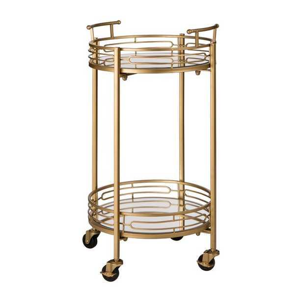 Howden Metal Mirrored Bar Cart - Wayfair