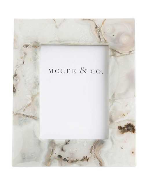 "AGATE STONE FRAME - 5"" x 7"" - McGee & Co."