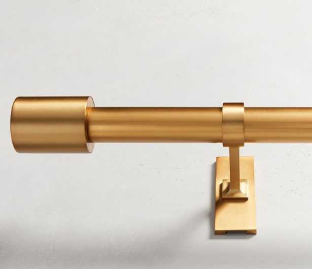 Oversized Adjustable Metal Rod - Antique Brass - West Elm