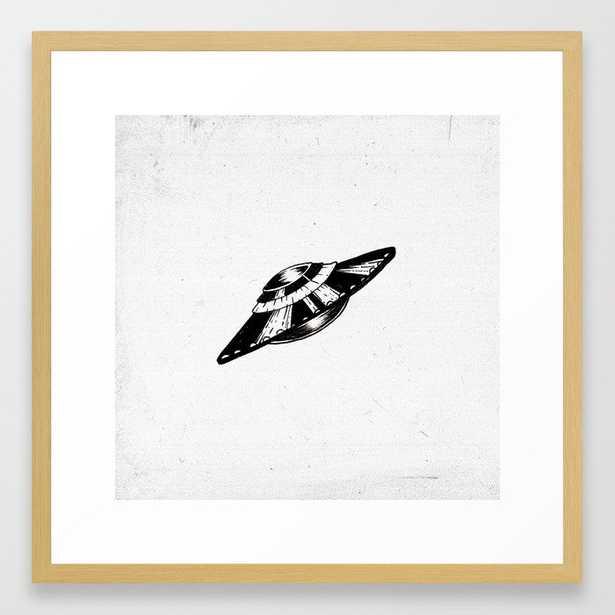 Lone UFO Framed Art Print - Society6
