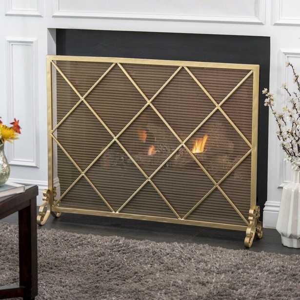 Tepper Single Panel Iron Fireplace Screen - Wayfair