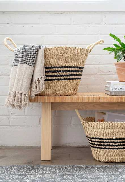 Chatham Striped Baskets, Set of 2 - Cove Goods