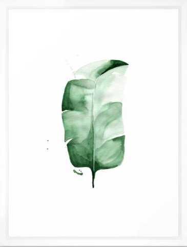 "Banana Leaf no. 3 Framed Art Print, 20 ""x 26""_scoop white - Society6"