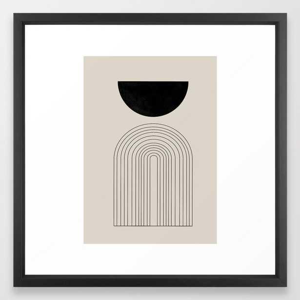 Arch, geometric modern art Framed Art Print - Society6