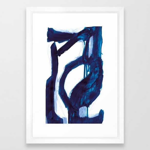 "Blue Abstract Framed Art Print -Vector white - 15"" x 21"" - Society6"
