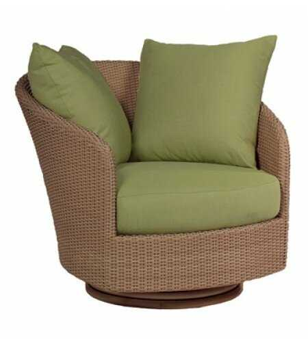 Oasis Swivel Patio Chair with Cushions - Canvas Heather Beige **color not pictured** - Perigold