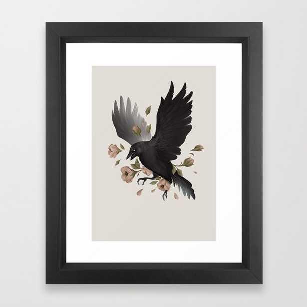 Caw Framed Art Print - Society6