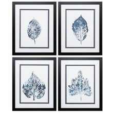 'Beginning In Blue' 4 Piece Framed Graphic Art Print Set - Wayfair
