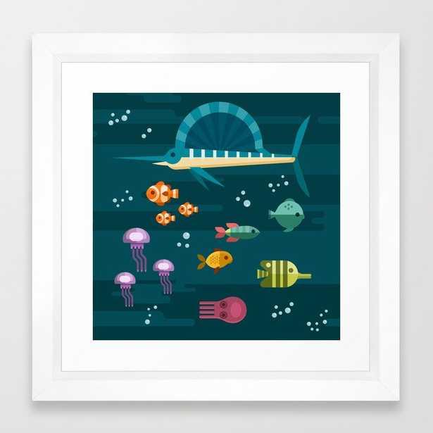 Sea animals 2 Framed Art Print - Society6