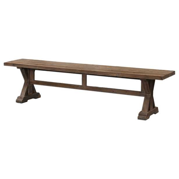 Stratford Salvaged Wood Bench - Hudsonhill Foundry