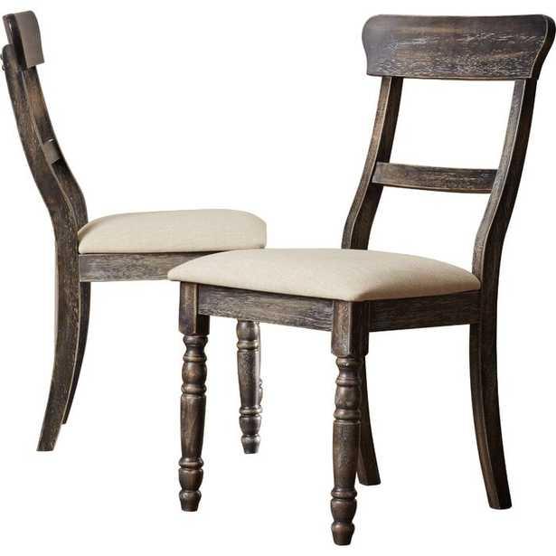 Sandown Upholstered Dining Chair, Set of 2 - Wayfair
