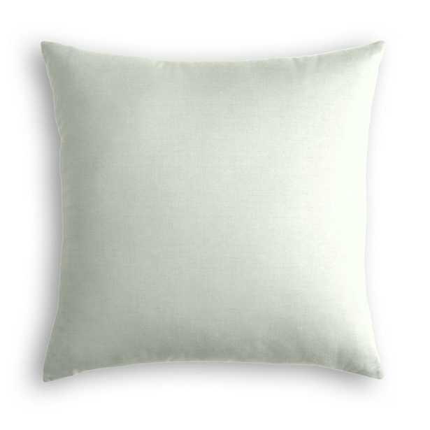 "Throw Pillow  Lush Linen - Dew- 20"" x 20""  - Poly Fiber Insert - Loom Decor"