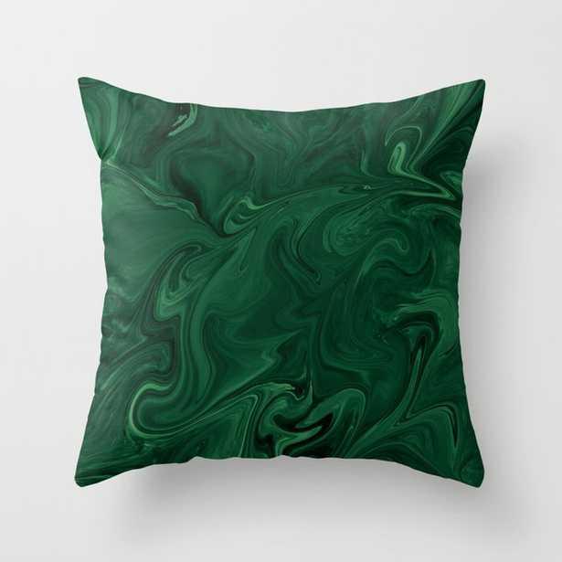 Modern Contemporary Emerald Green Abstract Throw Pillow - Society6