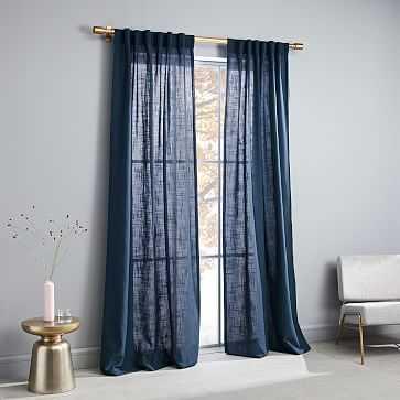 "Crossweave Curtain, Blackout Lining, Regal Blue, 48""x84"" - West Elm"