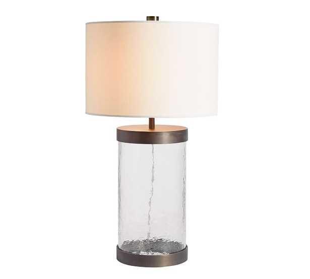 CFL Murano Glass Table Lamp, Bronze finish - Pottery Barn