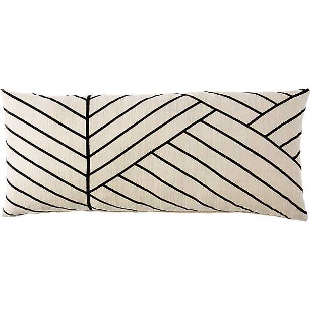 """36""""x16"""" forma pillow with down-alternative insert - CB2"""