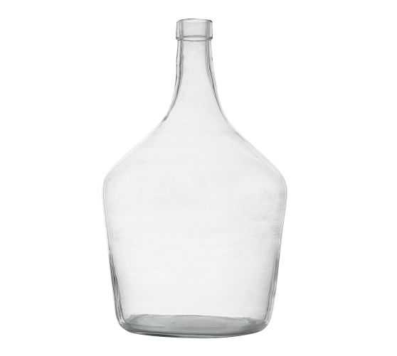 VINTAGE GLASS WINE BOTTLE VASES - Pottery Barn