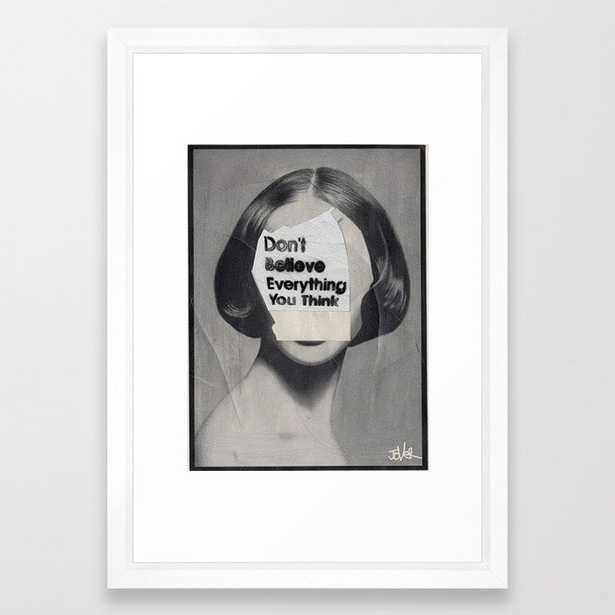 think Framed Art Print - Society6