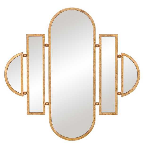 Laurens Geometric Oval Vanity Wall Accent Mirror - Wayfair