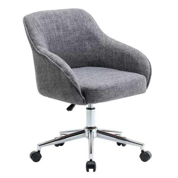 Seppich Adjustable Height Upholstered Swivel Office Chair - AllModern