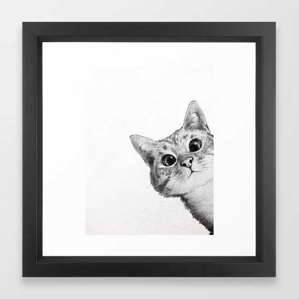 sneaky cat Framed Art Print by Laura Graves - Society6