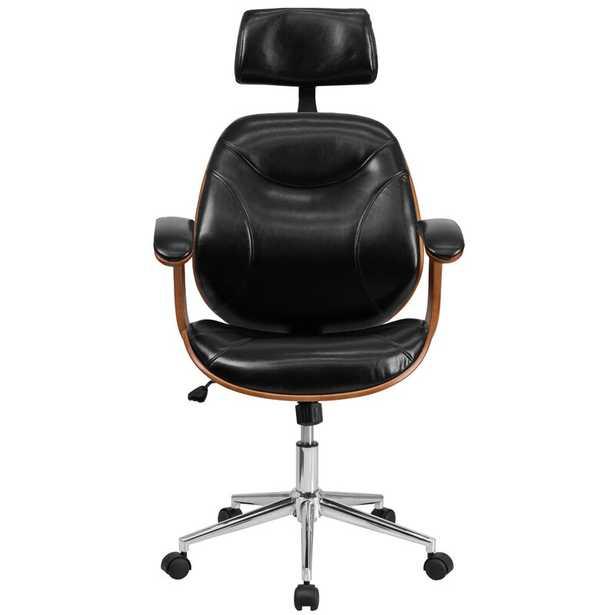 Aida High-Back Leather Desk Chair - AllModern