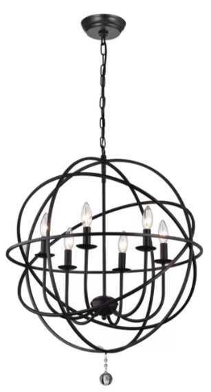 Eastbourne 6 - Light Unique / Statement Globe Chandelier - Wayfair