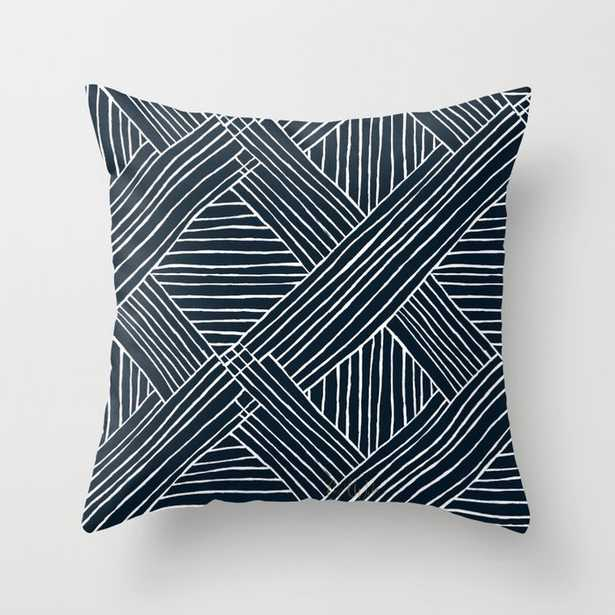 """Striped Diamonds Indigo Throw Pillow - Indoor Cover (20"""" x 20"""") with pillow insert by Crystalwalen - Society6"""
