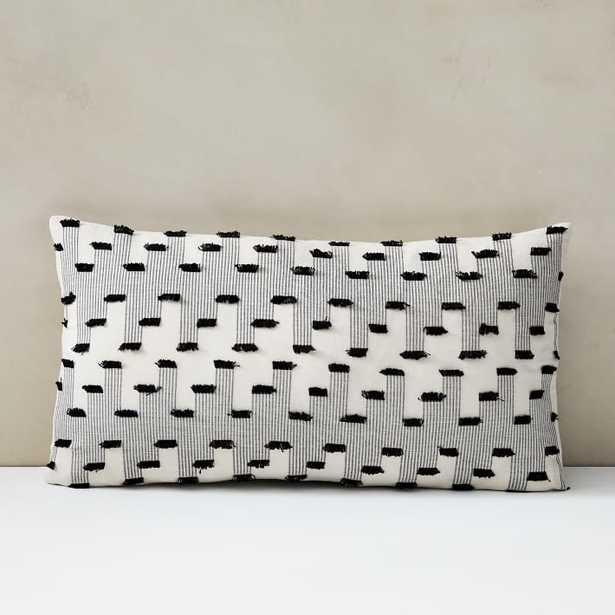 Organic Offset Fringe Pillow Cover - West Elm