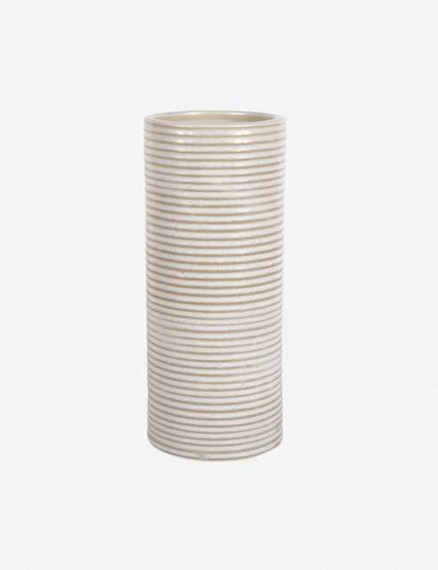 Ceramica Cylinder Vase 12, Ivory - Lulu and Georgia