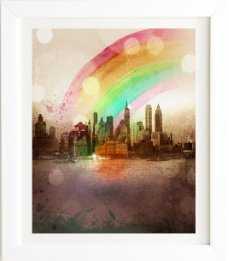 NYC Rainbow Framed - Wander Print Co.