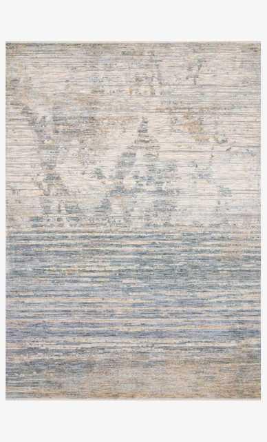 PAN-06 Ivory / Blue  7' 10' x 10' - Loma Threads