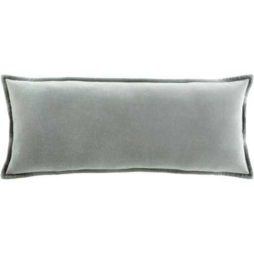 "Gabrielle Pillow Cover, 12""x 30"", Seafoam - Roam Common"