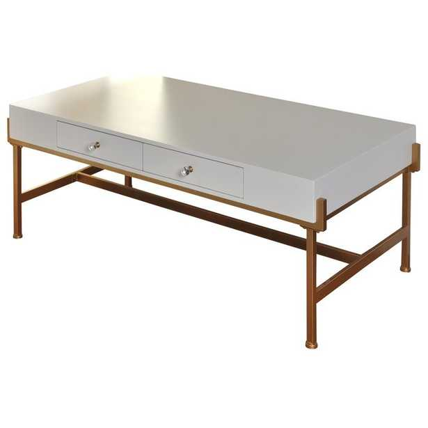 Hoch 2 Drawer Coffee Table with Storage - Wayfair