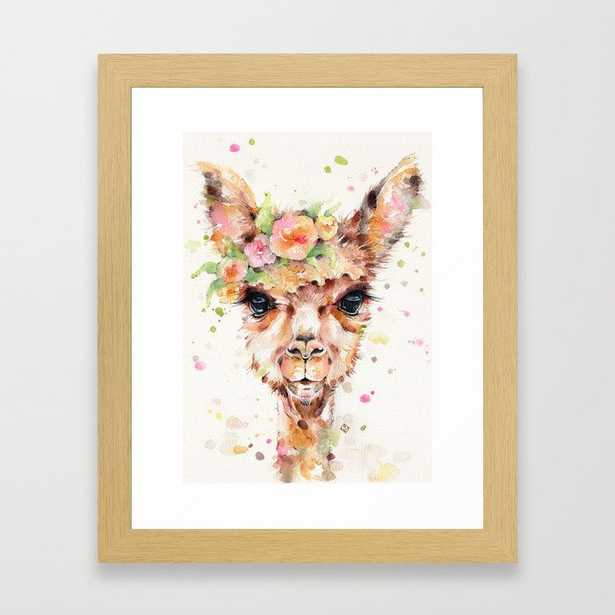 Little Llama Framed Art Print by Sillier Than Sally - Society6