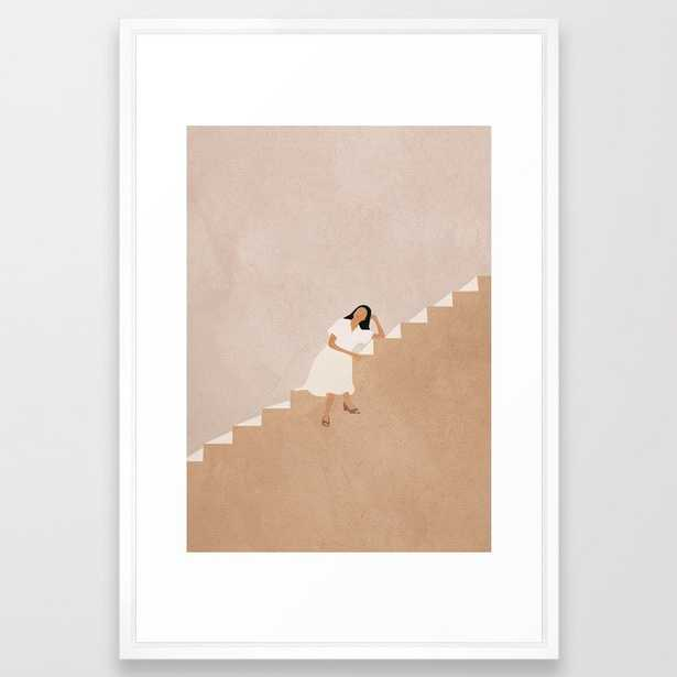 Girl Thinking on a Stairway - Society6