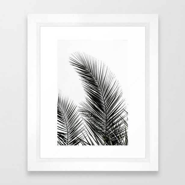 Palm Leaves Framed Art Print - 10x12 - vector white frame - Society6