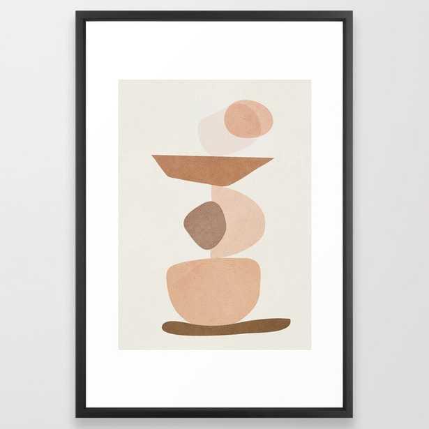 "Balancing Elements II Framed Art Print, Medium 26"" x 38"", vector Black Frame - Society6"