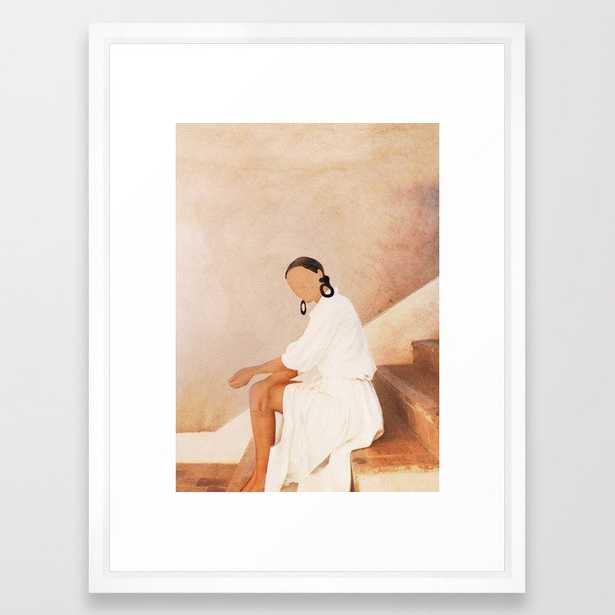 Lady in Waiting Framed Art Print - Society6
