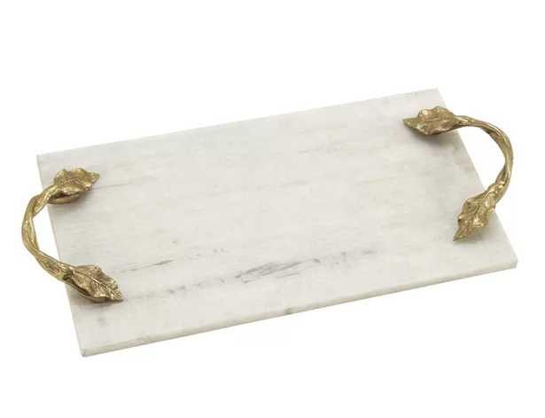 Monier Aluminum Marble Rectangular Tray - Wayfair