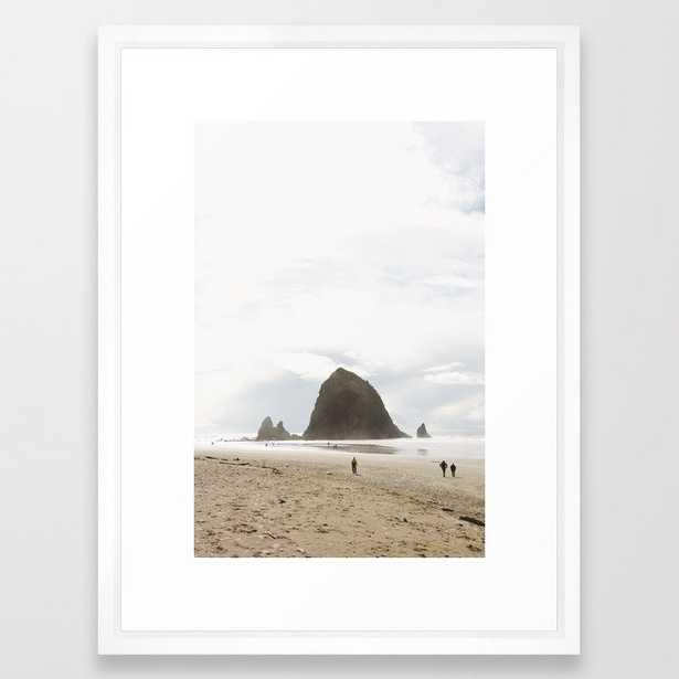 Haystack Rock, Oregon Coast, PNW Framed Art Print - 26x38 - Society6