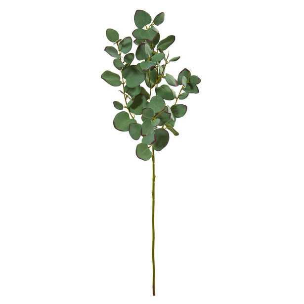 Faux Eucalyptus Branch, Set of 6 - Fiddle + Bloom