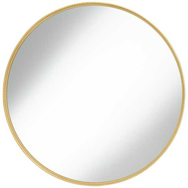 """Cally Gold 31 1/2"""" Round Metal Wall Mirror - Style # 76A82 - Lamps Plus"""