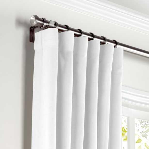 Convertible Drapery Linen Sheer - Optic White (Pair, Split Draw  ) - Loom Decor