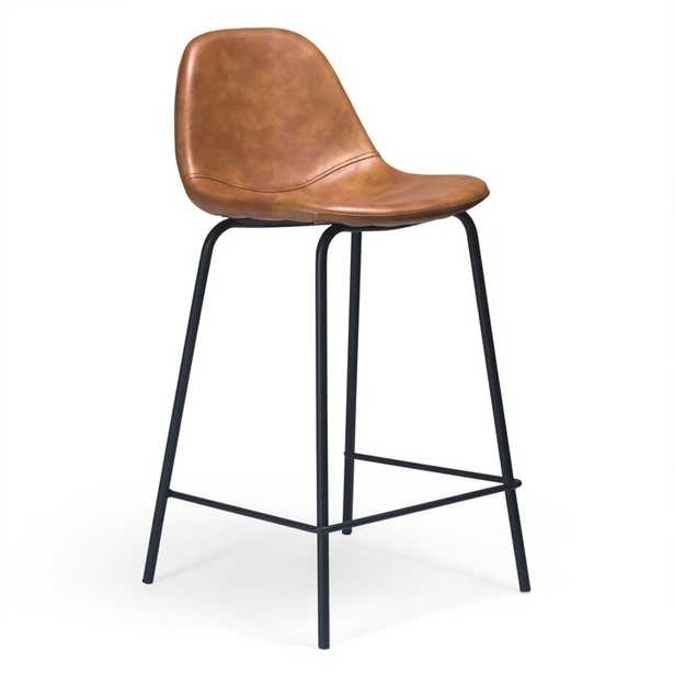 Connor Faux Leather Counter Stool - set of 2 - Wayfair