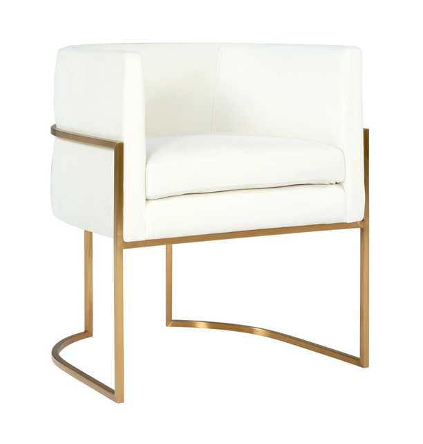 GisLyla Cream Velvet Dining Chair - Lilly Frame - Maren Home