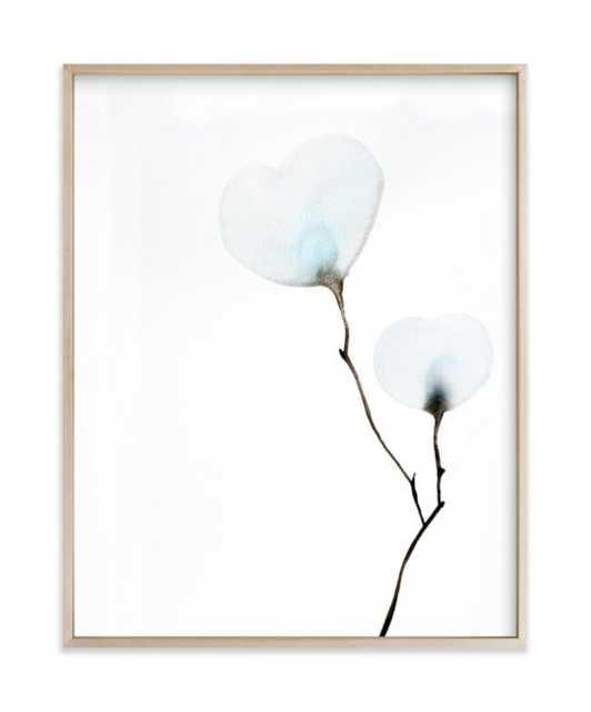 "Mokuren 02, 11"" x 14"" Framed Art Print in Matte Brass Frame - Minted"