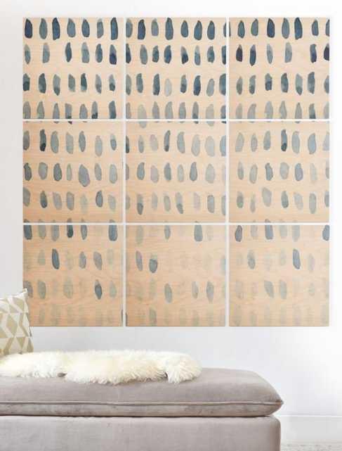 PROOF OF LIFE Wood Wall Mural - 5x5 - Wander Print Co.