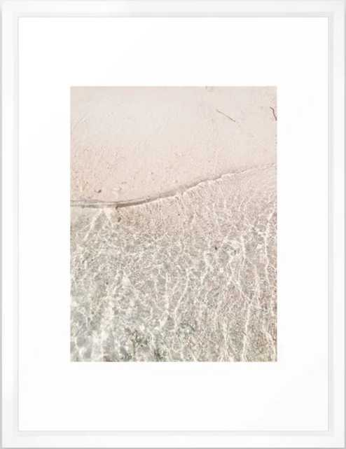 """I Can Sea Clearly Framed Art Print, 20"""" X 26"""", Vector White - Society6"""