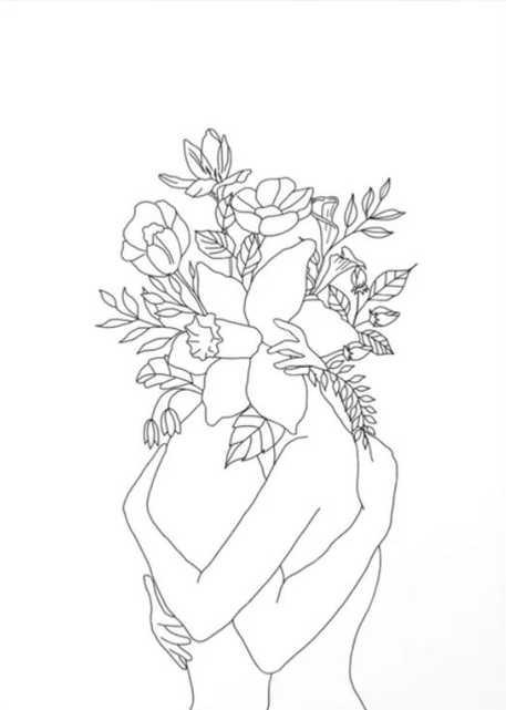 Blossom Hug Canvas Print - Society6